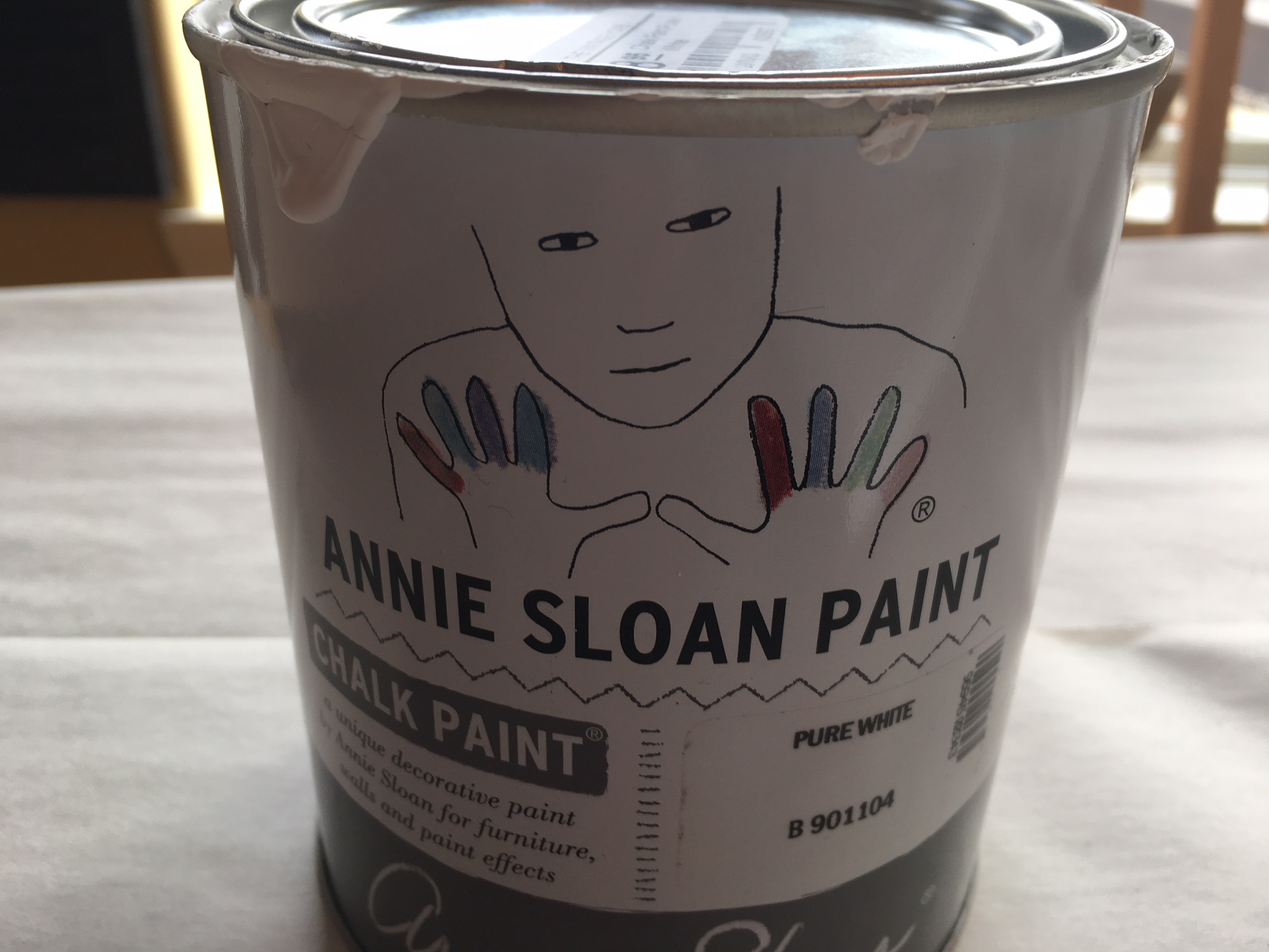 annie sloan paint, diy towel rack